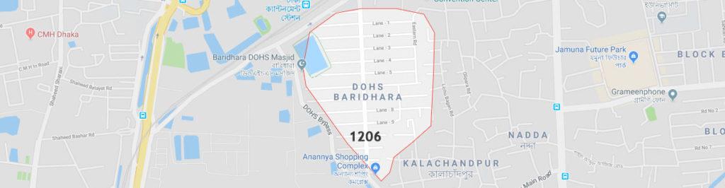 Baridhara dohs postal code or zip code