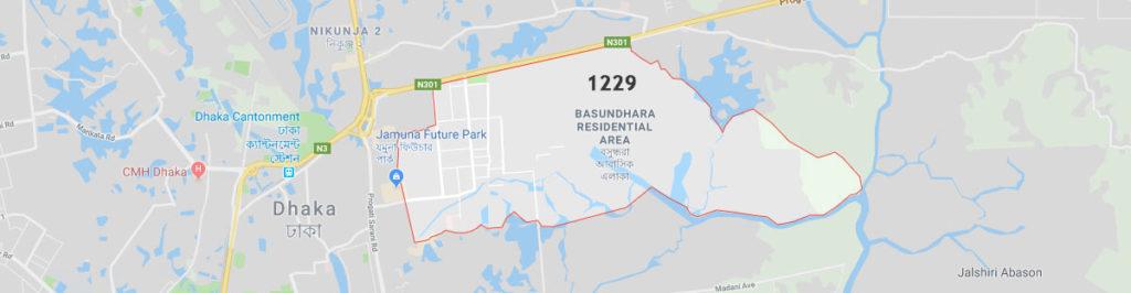 Bashundhara postal code