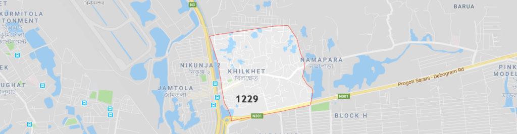 Khilkhet postal code