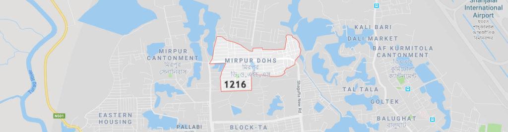 Mirpur dohs postal code