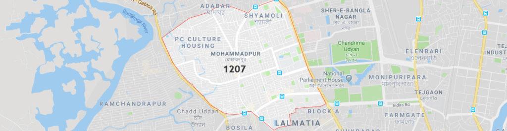 Postal code of mohammadpur, Mohammadpur postal code