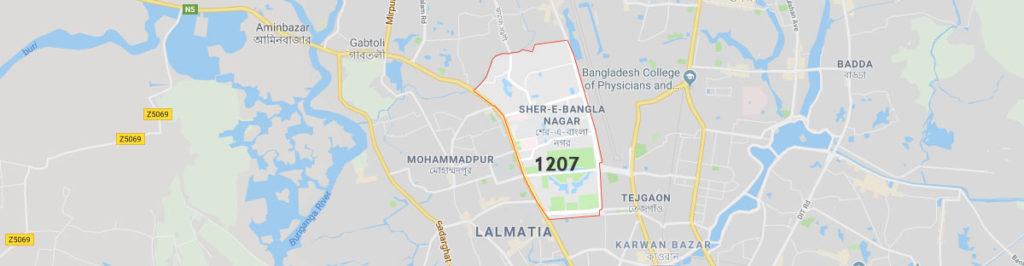 Sher e bangla nagar postal code