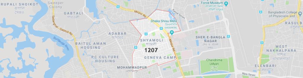 Shyamoli postal code